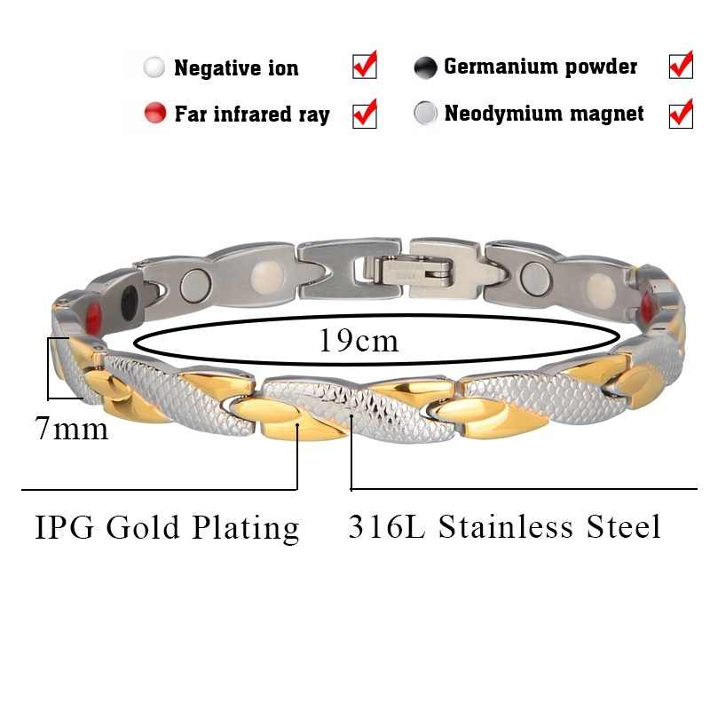 2019 Twisted Healthy Magnetic Bracelet for Men Women Power Therapy Magnets Bracelets Bangles Unisex Jewelry Gold Statement