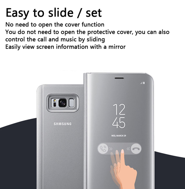 EF-ZG955 For Samsung Galaxy S8 S8+ plus Vertical Mirror Protection Shell Phone Cover Phone Case SM-G950F Dream SM-G955F SM-G950U