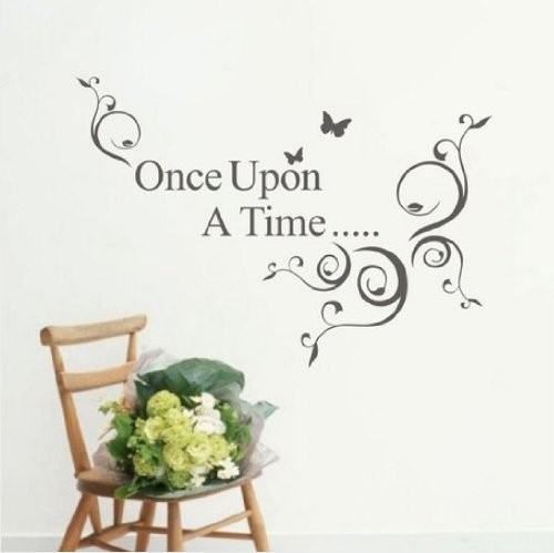 Aliexpresscom Buy DIY Quote Once Upon A Time Vine Art PVC Wall - Custom vinyl wall decals falling off