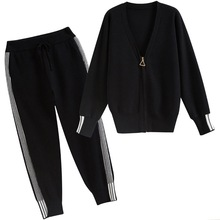 2018 Women Clothing Set Casual Autumn 2 Piece Zipper Top And Pants Tracksuits