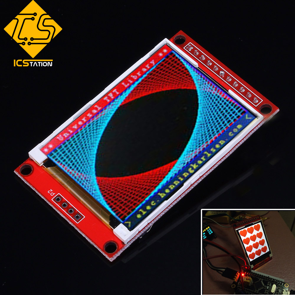 ILI9225 2.0 Inch UART TFT Display Module Color LCD Board Serial Port SPI FLASH Interface Applied 176x220 For Arduino 3/5.5V IO stm32f103rbt6development board learning board assessment board spi interface 2 4 tft color screen routines