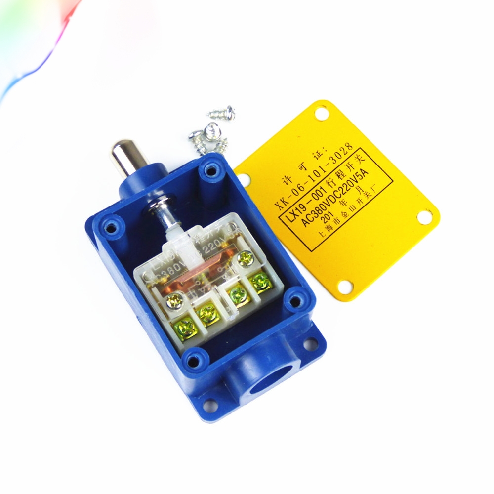 1 Set 1NO 1NC SPDT Momentary Push Plunger Enclosed Limit Switch LX19-001 New