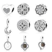 925 Sterling Silver Love You Charm Beads Fit Original Pandora Charm Bracelet DIY Jewelry Making 2017