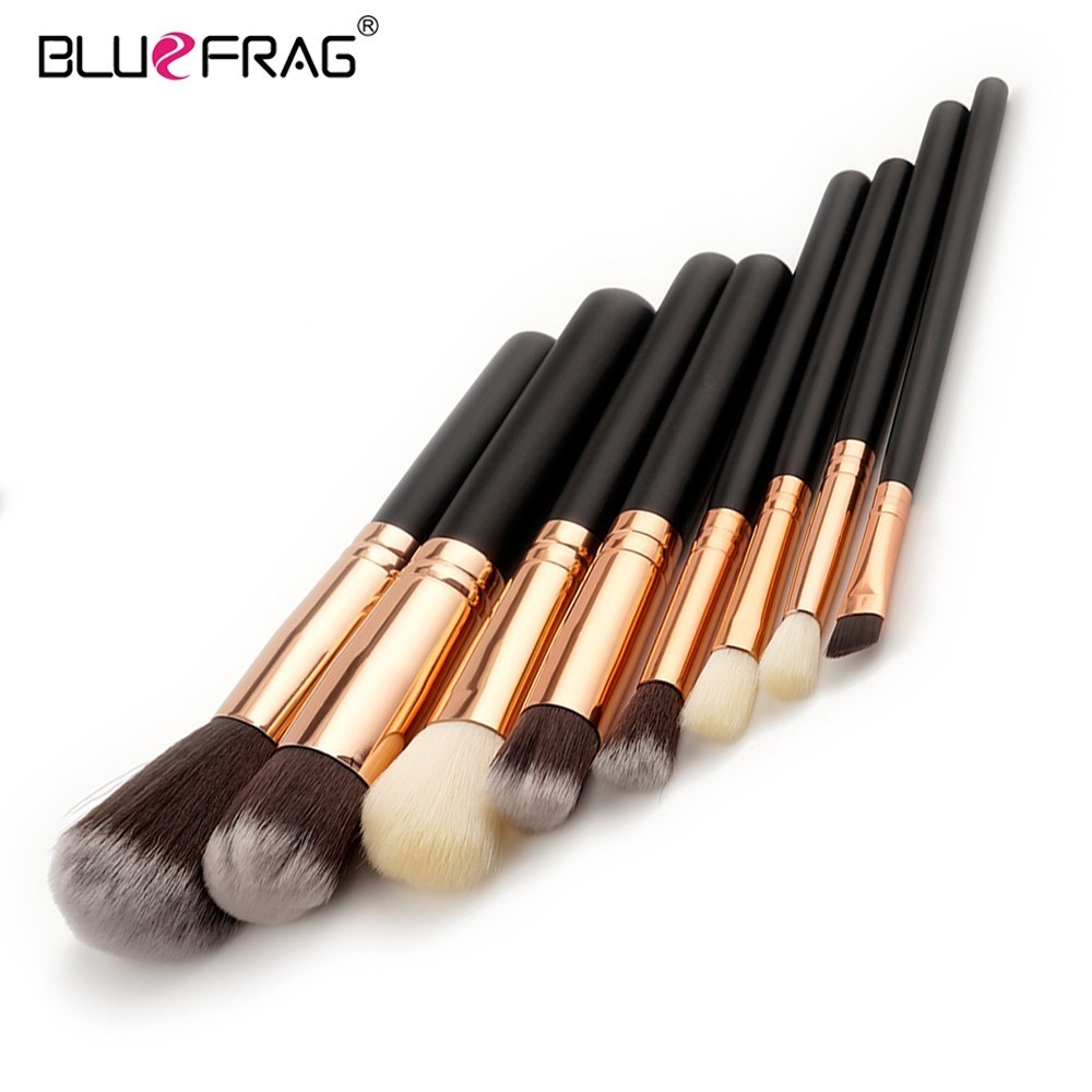 BLUEFRAG 8pcs Makeup Brushes Set Eyeshadow Concealer Eyeliner Lip Brush Powder Foundation Make Up Brush Kit Beauty Cosmetic Tool high quality 24pcs makeup brushes set cosmetic make up brush tool kit fan foundation powder eyeliner brushes with leather case