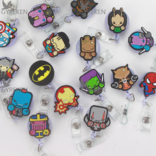 5Pcs/Lot Cute Cartoon Retractable Badge Reel The New Student Nurse Exihibiton ID Name Card Holder Office Stationery Supply