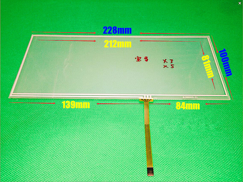TOUCH For X3 X5 8.8-inch 228mm*100mm 228*100mm 4 wire Resistive Touch screen digitizer panel CAR GPS Navigation Touch Screen new 3 5 inch 4wire resistive touch panel digitizer screen for navitel nx 3100 nx3100 77 64mm gps free shipping