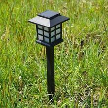 2 шт. солнечные садовые лампы для газонов светильники для дорожки дворцовый фонарь стиль ландшафтное освещение для садовый декоративный фонарь сенсор лампа