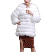 actual fox fur coat/Luxurious ladies's winter autumn white vogue fur coat of fox,crimson black lengthy sleeve lengthy pure fur coat C148223