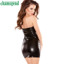 New Fashion Strapless Dress Clubwear Stripper Dress Black