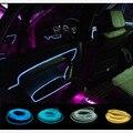 10 cores Estilo Do Carro 3 M flexível luz neon brilho EL arame luzes interiores do carro Com 12 V isqueiro DIY Decorativo Porta de Painel de bordo