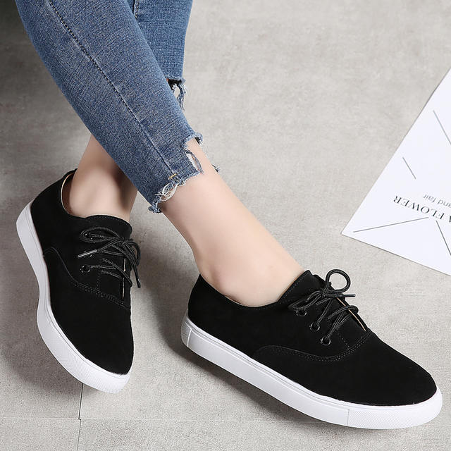 TKN 2018 winter flats oxford shoes for women leather suede sneakers lace up boat shoes women round toe flats moccasins 1376 4