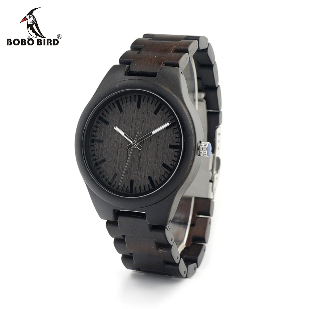 BOBO BIRD LI22 Ebony Wooden Men's Watch with White Needles Luxury Japan 2035 Movement Quartz as Gift for Men sexy pointed toe high heels women pumps shoes new spring brand design ladies wedding shoes summer dress pumps size 35 42 302 1pa