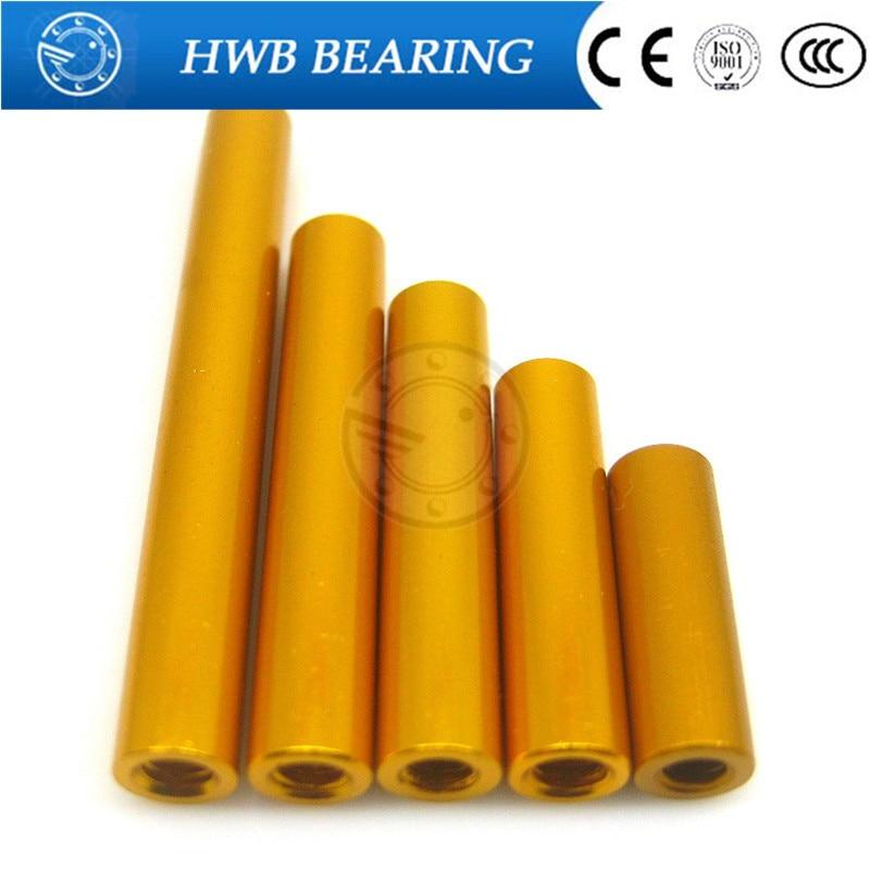M3 x 6mm 8mm 10mm 12mm 15mm 18mm 20mm 10 PCS M3 od=5mm Yellow  Spacer Stud Fastener aluminum column Aluminum alloy Standoff 20pcs m3 6 m3 x 6mm aluminum anodized hex socket button head screw