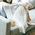 Sweety ahuecan hacia fuera el flowal lace manga larga vestido blanco lindo de la primavera de vestido largo