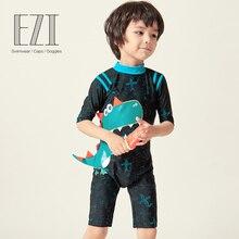July sand/ купальный костюм в полоску с короткими рукавами и молнией на спине для мальчиков 18B008