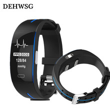 DEHWSG ECG+PPG Smart watch D3 Blood Pressure Real-time Heart rate Monitoring IP67 waterpoof Smart Bracelet pk fitbits for xiaomi(China)