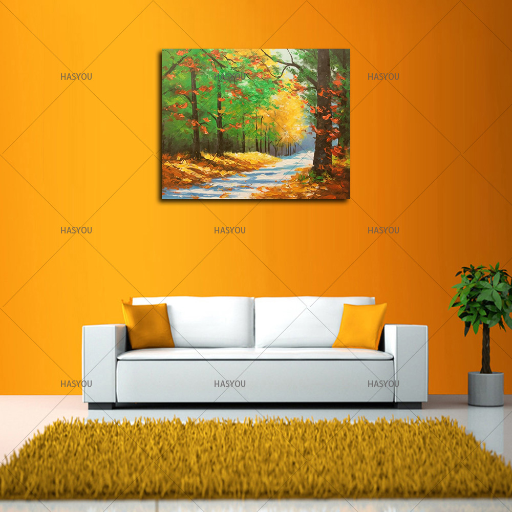 Best seller Wall Art Abstract tree landscape oil Painting Modern ...