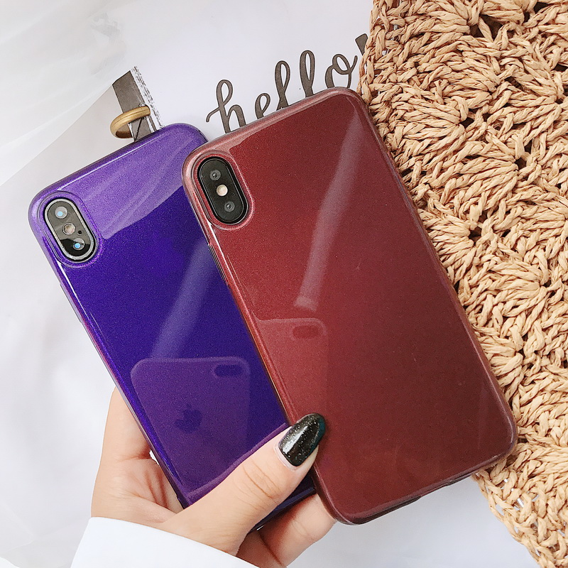 YISHANGOU Glitter Bling Glossy Phone Case For iPhone X 8 Plus 6 6S 7 Plus 5 5S SE Ultra Slim Soft TPU Silicon Shockproof Cover