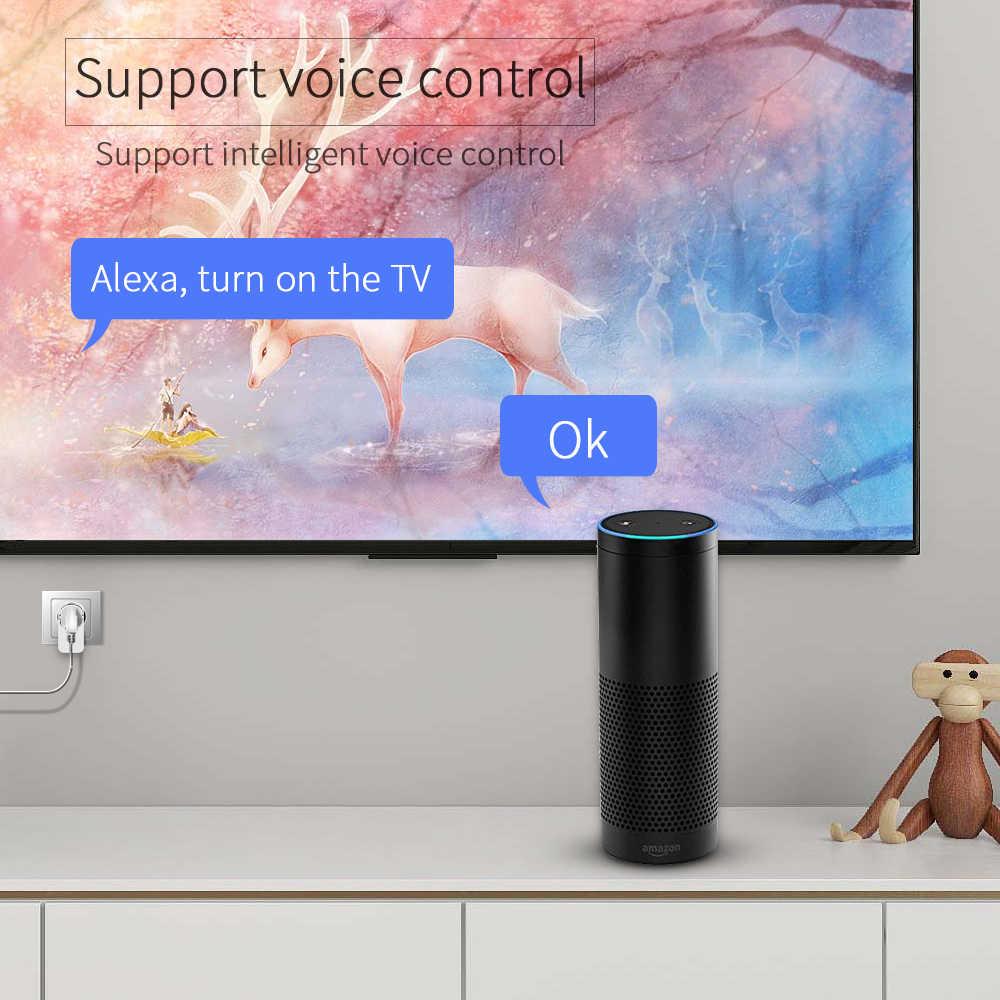 Timethinker 2 Chiếc Wifi Thông Minh Cắm HomeKit Ổ Cắm Adapter Châu Âu Cho Apple HomeKit Siri Alexa Google Home App Tiếng Nói Từ Xa bộ Điều Khiển