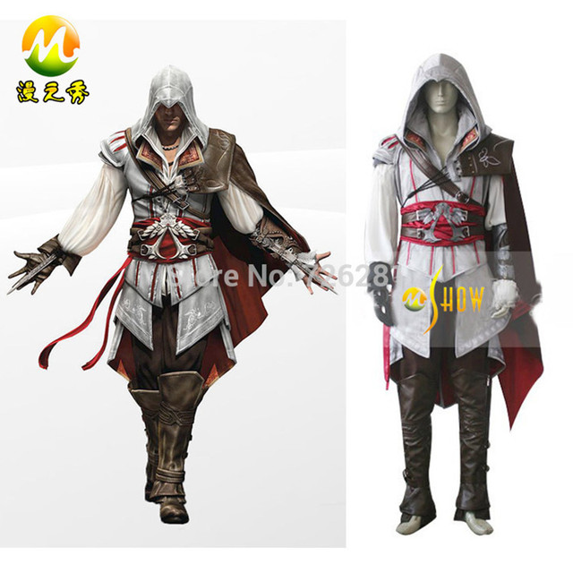 Assassin's Creed Ezio Auditore da Firenze Halloween Cosplay Costume for  Adult Men Uniform Suit Halloween party