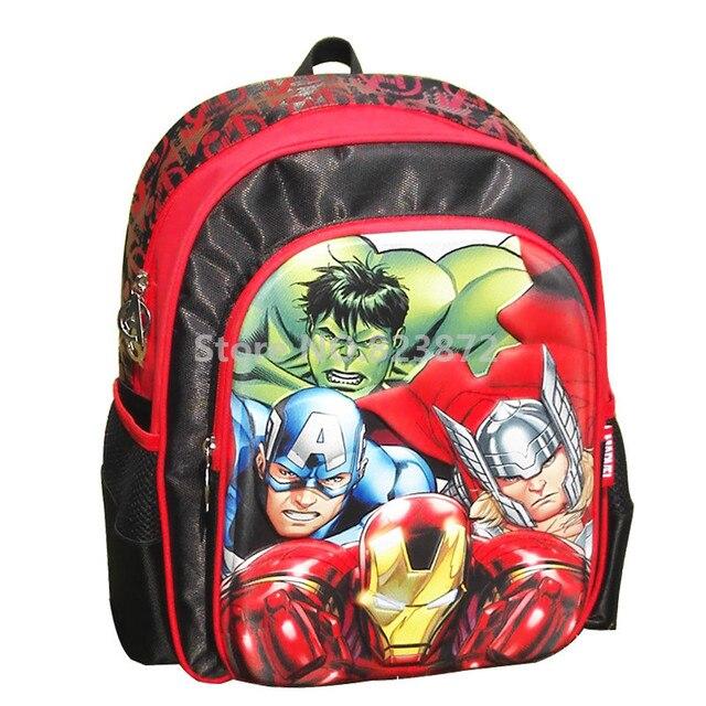 3D Avengers Backpack School Bags for Boys Grade 1-3 Primary School  Backpacks Children Schoolbag Kids Bag Iron Man Hulk Thor 7fa6a539ff04b
