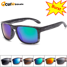 Classic Mens Sunglasses UV400 Vintage Sun Glasses For Driving Black Frames Wood Grain Men Rivets Eyewear 2019 Hot