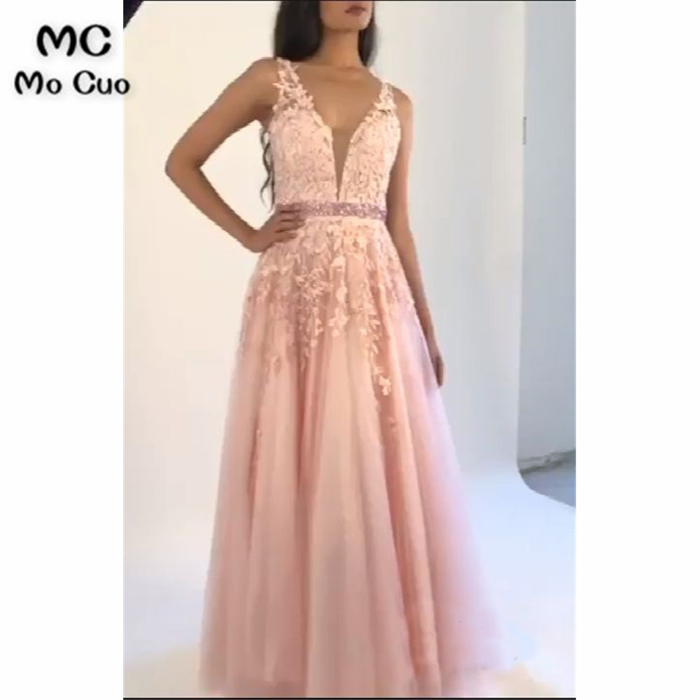 Vintage Lace   Prom     Dresses   Evening Gown Beaded Deep V-Neck Tulle Women's   dress   for graduation Puffy Evening Party   Prom   Gowns