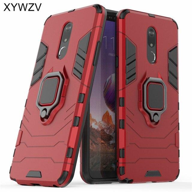 עבור LG Stylo 5 מקרה רך גומי סיליקון קשיח שריון מתכת אצבע טבעת מחזיק טלפון מקרה עבור LG Stylo 5 כיסוי אחורי עבור LG Stylo 5