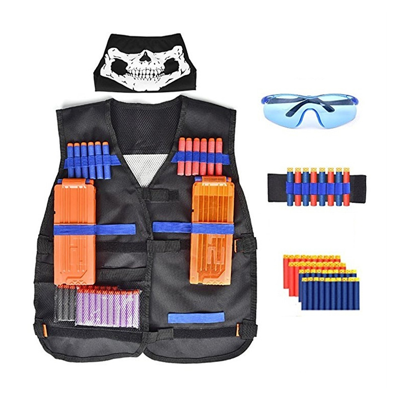 Nerf Tactical Equipment Elite Kit For Nerf Gun Accessories Tactical Suit With Bullet Clip Mask For Elite Nerfs Elite Gun Toy Boy