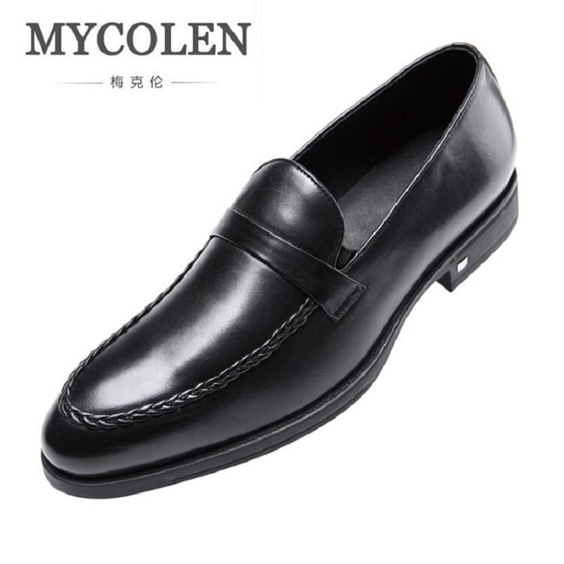 MYCOLEN Men Oxfords Top Quality Handsome Comfortable Brand Men Wedding Shoes Round Toe Business Casual Shoes Zapatos Hombre men loafers shoes needbo brand handsome comfortable top quality men casual shoes genuine leather fashion breathable shoes men