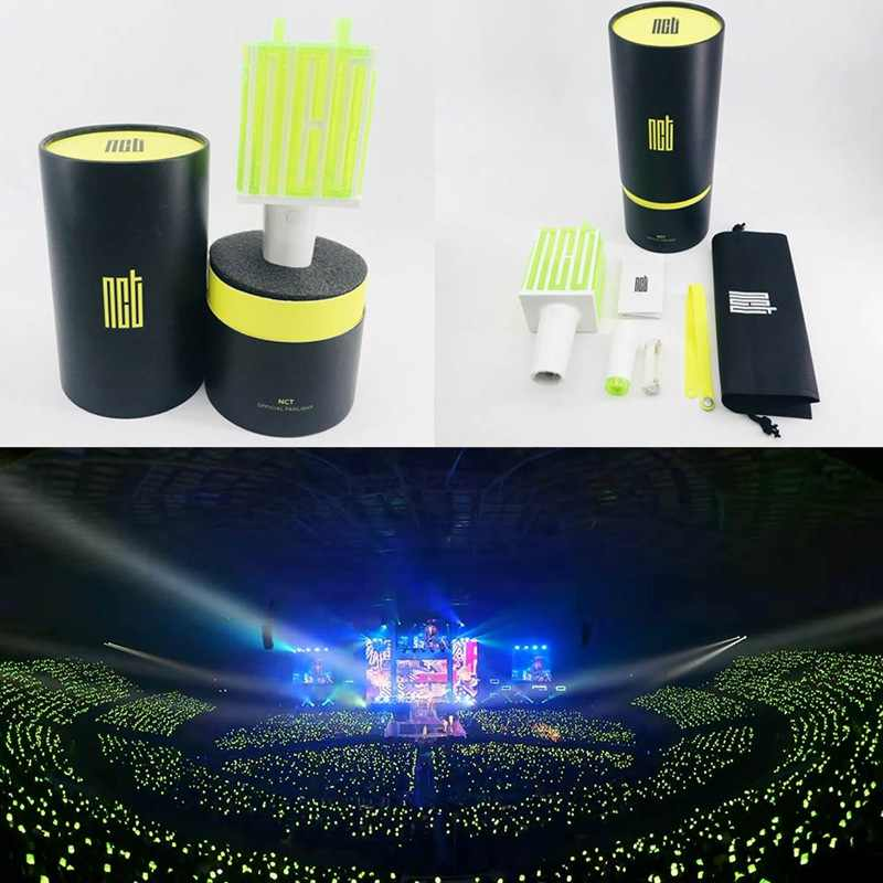 LED NCT 127 Fan-Made Tongkat Lampu Hiphop Lightstick Konser Musik Lampu Neon Tongkat Bantuan Rod Penggemar Hadiah Alat Tulis set