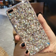 Crystal Diamond Glitter Case untuk iPhone X XS Max XR 8 7 6S PLUS 5S untuk Samsung Galaxy s10/9/8/7/6 Edge Plus S10E Catatan 9 8 5 4 3(China)