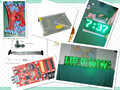 free shipping DIY LED Text Display Electronic kits 20pcs P10 semi-outdoor green LED module+1 pc led controller+2pc power supply