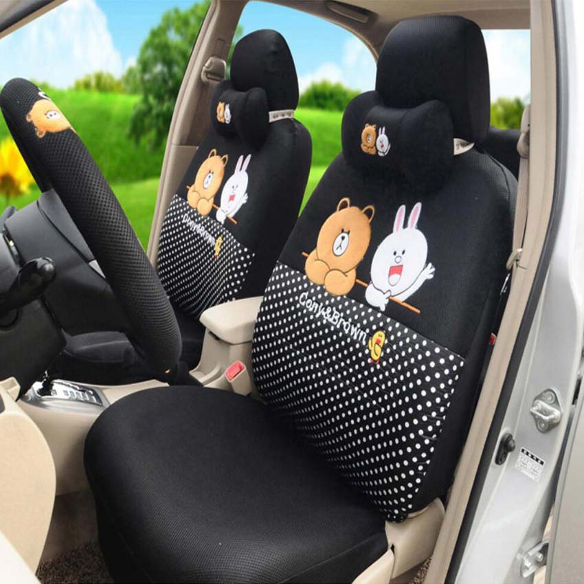 Cony and Brown car seat cover 1