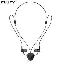 PLUFY Sports Bluetooth Headset Waterproof Wireless Headphones Neckband Stereo Music Earphones With Mic Necklaces Headphones