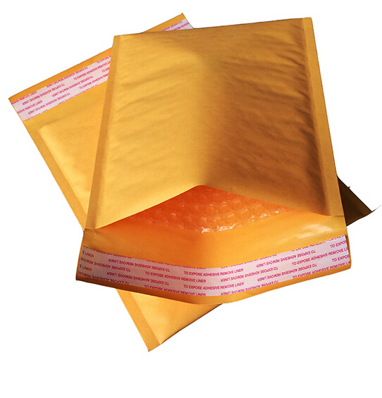 10pcs Yellow Kraft Bubble Mailers Padded Envelopes Shipping Bag Self Seal Business School Office Supplies Mailing Bags Envelopes