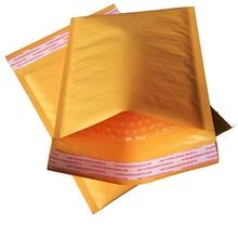 10pcs Yellow Kraft Bubble Mailers Padded Envelopes Shipping