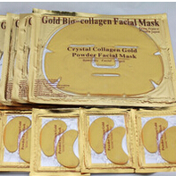 Face And Eye Care! Crystal Collagen Gold Powder Face And Eye Mask 10pair Eye Mask Plus 10pc Face Mask With Free Shipping