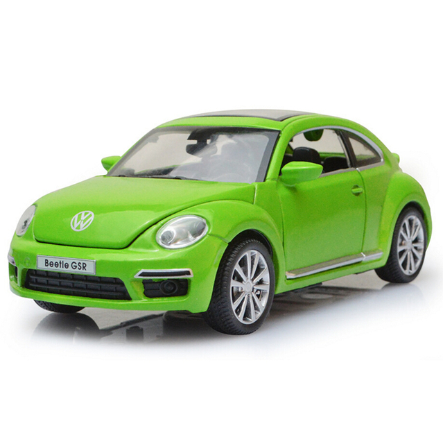 Hot 1 32 Scale Wheels Vw Beetle Cast Cars Model With Light And Musical Pull Back Metal Alloy Toys For Collection Kids Gifts