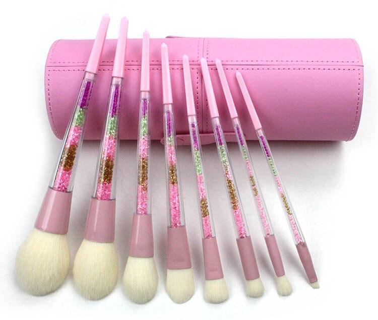 novo 8 pcs set moda beleza maquiagem ferramentas conjunto de pincel de maquiagem populares
