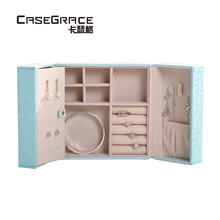 ФОТО casegrace exquisite jewelry storage box leather double open makeup case women jewelry packaging box casket organizer box 01121