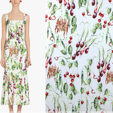 145cm digital printing fabric fashion dress scarf patchwork polyester material diyparent-child wholesale cloth