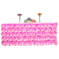 Tulle Table Skirt for Wedding Birthday Party Decoration Tutu Table Skirting Tablecloth Baby Shower Wedding Supplies 275*80cm
