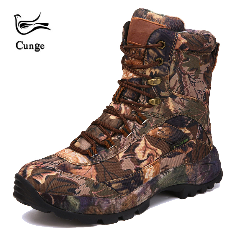 CUNGEL Tactical Military boots Hiking Shoes Professional Waterproof ankle Hiking Boots Outdoor travel Mountain Sports Sneakers
