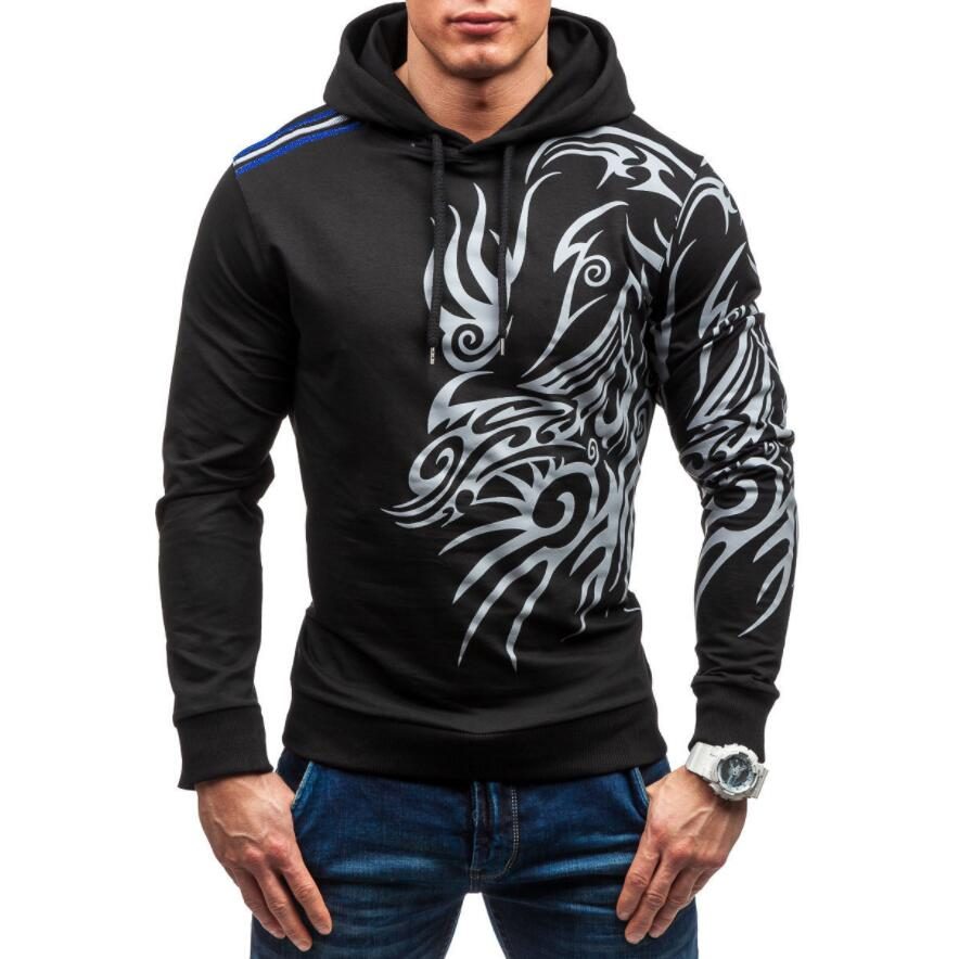 WSGYJ Men Hoodies 2019 Brand Long Sleeve 3D Dragon Printed Sweatshirt Casual Hooded Streetwear Hip Hop