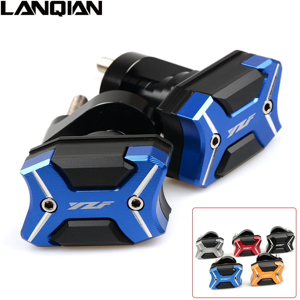 NEW Motorcycle CNC Frame Slider Crash Engine protect Pad Side Shield Protector For YAMAHA YZF R1 2007 2008 R6 2008- 2016 YZF-R1 aftermarket free shipping motorcycle parts no cut frame slider crash protector for 2004 2011 yamaha fz6 fazer fz6s carbon fiber