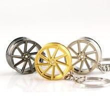 Chaveiro de calota automotiva vozes, modelo de roda, acessórios criativos, peça automática, chaveiro, chaveiro, porta-chaves