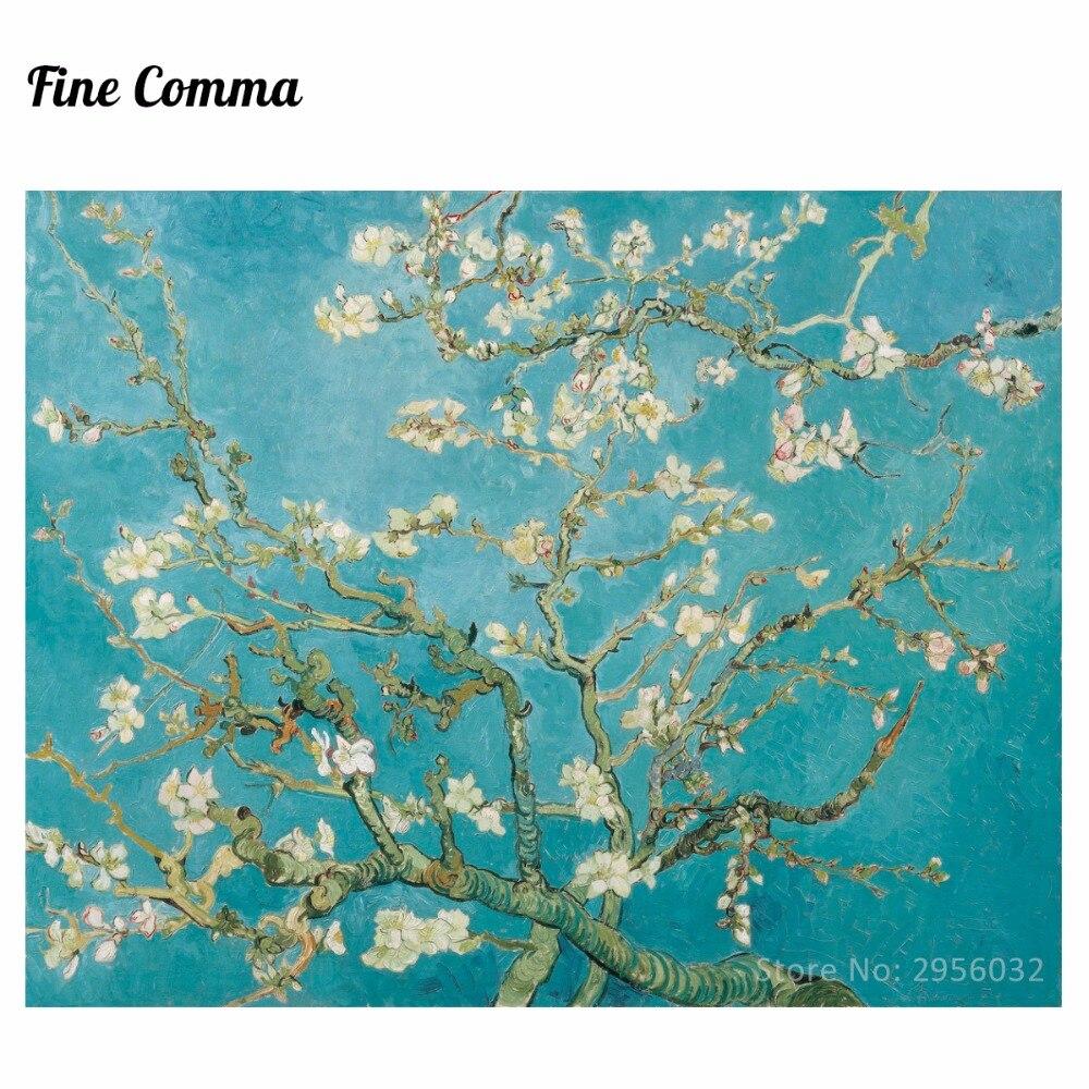 Миндаль цветущее дерево Винсента Ван Гога холст настенная живопись художественные картины ручная роспись маслом Репродукция для гостиной