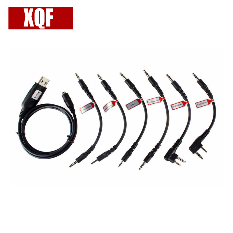 XQF 6 in 1 USB Programmierkabel für Motorola YAESU HYT ICOM BAOFENG KENWO Zweiwegradio Mit Programmiersoftware