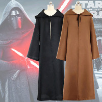 2018 New Star Wars Black Warrior Darth Vader Cosplay Costume Jedi Knight Cloak Witch Robe